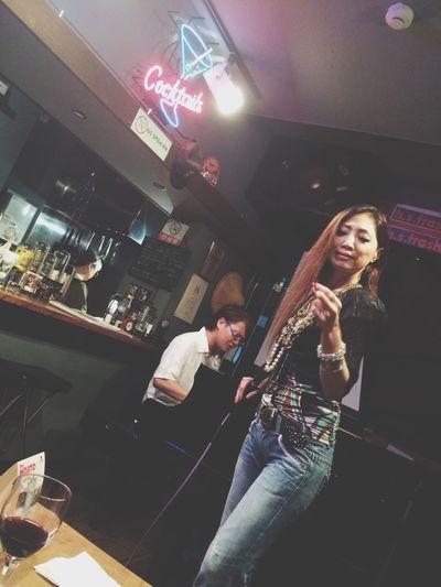 Two People Hideakihori Makifujimura Live Singasong Sing Jazz Jazz Music Love ♥ Respect