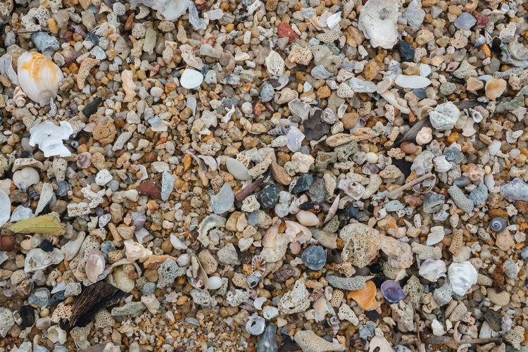 Full frame shot of stones on beach