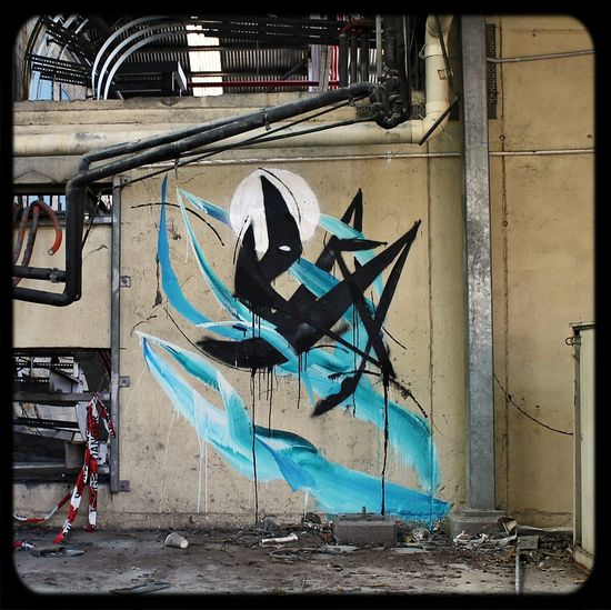 Shida in Abandoned Places Urbexexploring old factory . Graffuturism