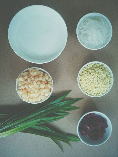 Pandan Green Bean And Corn Jelly Beetroot Coconut It was homemade Dessert Yummy♡ Vscocam LongTime