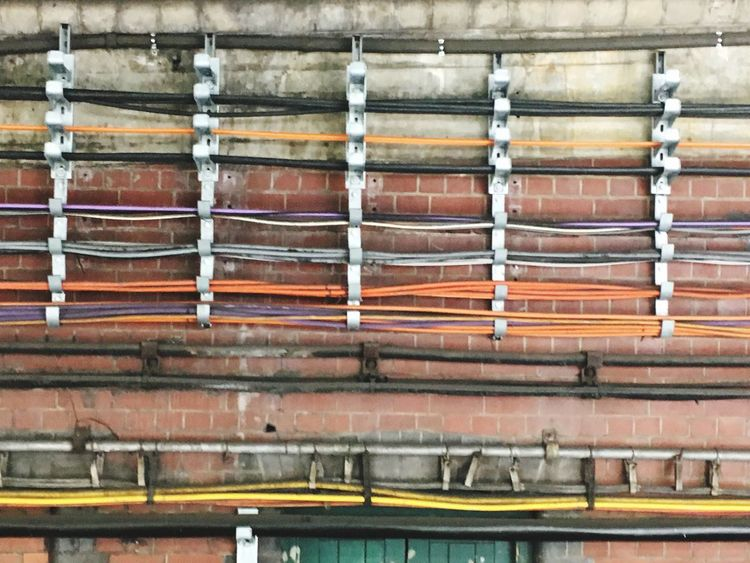 Underground Station  wires Electricity  No People Built Structure Day Architecture Outdoors Close-up