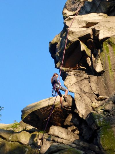 Rock Solid Rock - Object Climbing Sky Nature Clear Sky Real People Rock Climbing Sport Stay Out