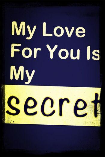 mon amour pour toi est mon secret