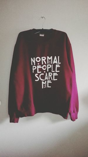 Sweater Normal People Scare Me Relaxing
