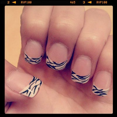 Nails Did ;D Zebra