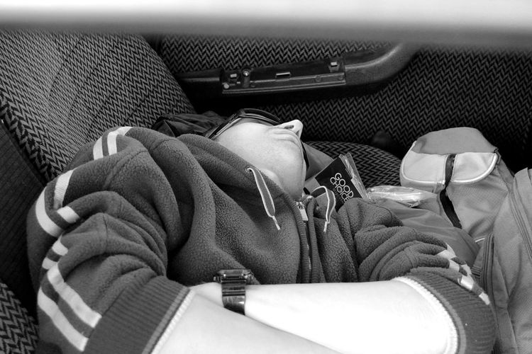 Citroen Citroën Cx Close-up Day Indoors  Man Relaxing Sleeping