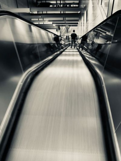 Transportation Architecture The Way Forward Indoors  Incidental People Escalator Direction