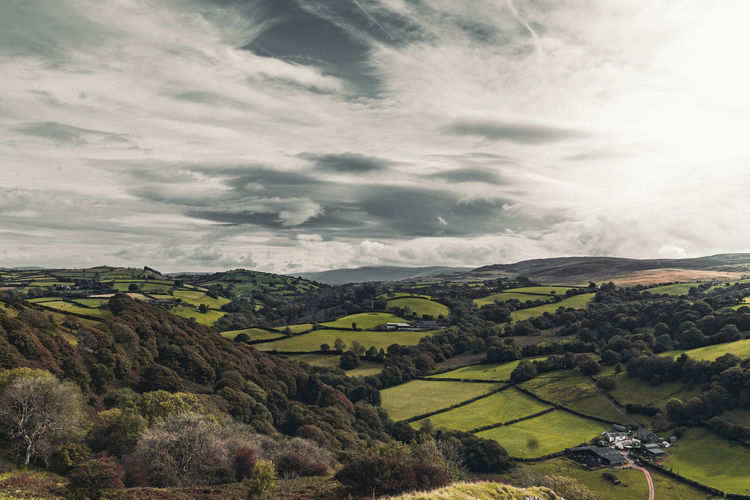 Wales Welsh Countryside Agriculture Beauty In Nature Cloud - Sky Day Field Green Color Landscape Mountain Nature No People Outdoors Rural Scene Scenics Sky Tranquil Scene Tranquility Tree Been There.