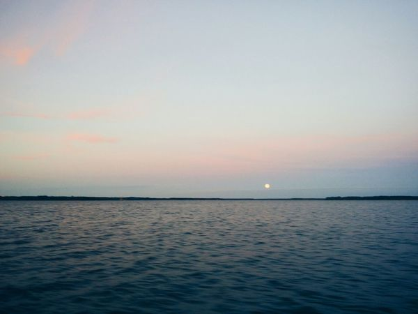 The Moon Taking Photos Moon_collection Landscape_photography Hanging Out On The Ocean Sky And Clouds Calmness Photography Summernight Lightness