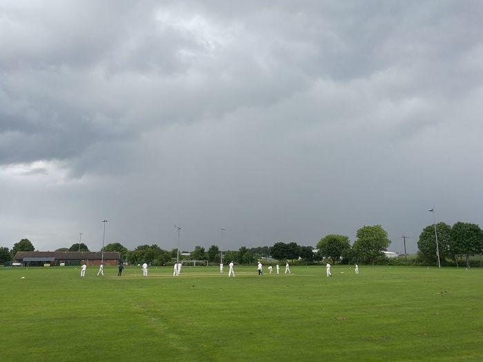 Cricket Cricketfever Cricket Field Storm Coming British Summer