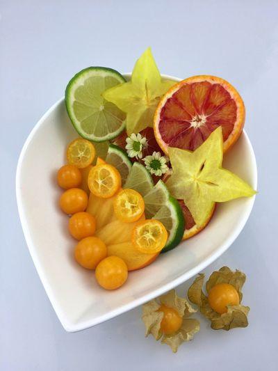 Freshness Food Frischekick Citrus Fruit Food And Drink Starfruit Orange - Fruit Lemon Sternfrucht Kumquat Kaki Studio Shot White Background Close-up Ready-to-eat Fruit Physalis Fresh On Eyeem  Bloodorange Limette