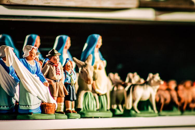 Close-up of cute figurines