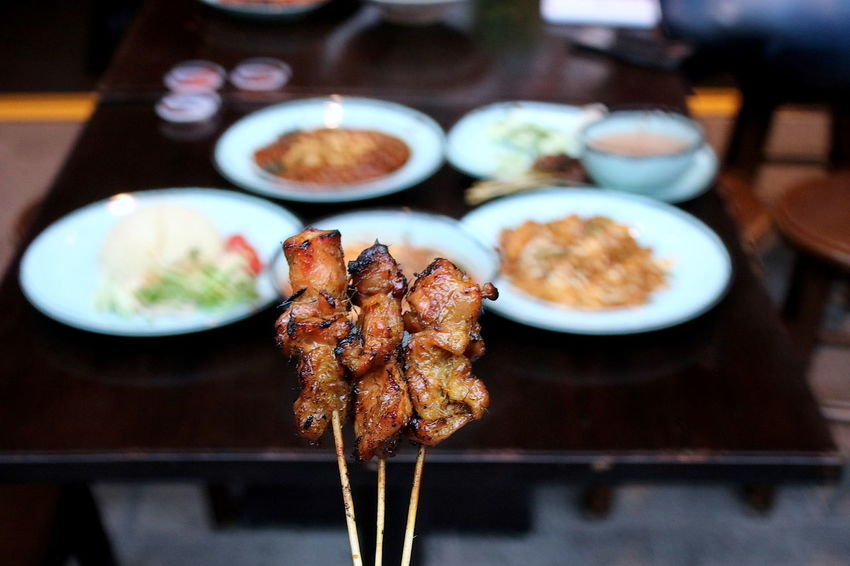Barbecue Close-up Day Focus On Foreground Food Food And Drink Freshness Indoors  Meat No People Plate Ready-to-eat Satay Temptation