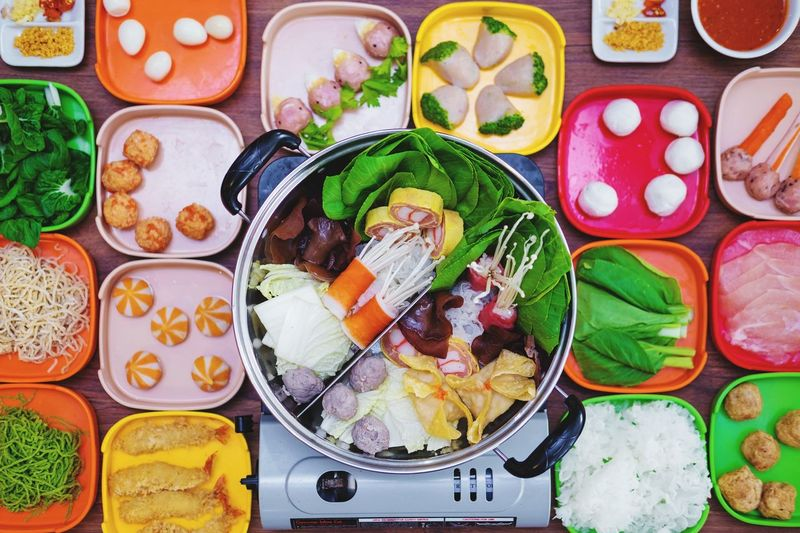Japanese food Aerial View Flat Lay Sushi Choice Seafood Meat Variation Directly Above High Angle View Sashimi  Close-up Food And Drink Prepared Food Japanese Food Serving Dish Ramen Noodles Rice - Food Staple Serving Size Asian Food Served Noodle Soup