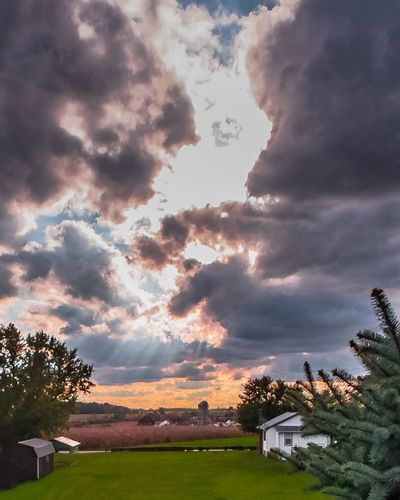 Pennsylvania Autumn Sky Cloud - Sky Sky Architecture Built Structure House Building Exterior Tree No People Outdoors Sunset Nature Beauty In Nature Day Scenics
