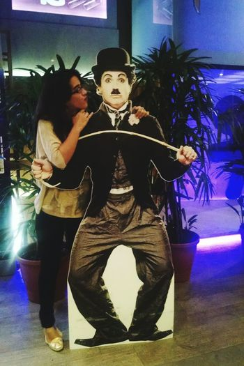 Love love and my love ❤ Charlie Chaplin Picture Taking Photos Thats Me  Come Back Please Kissed