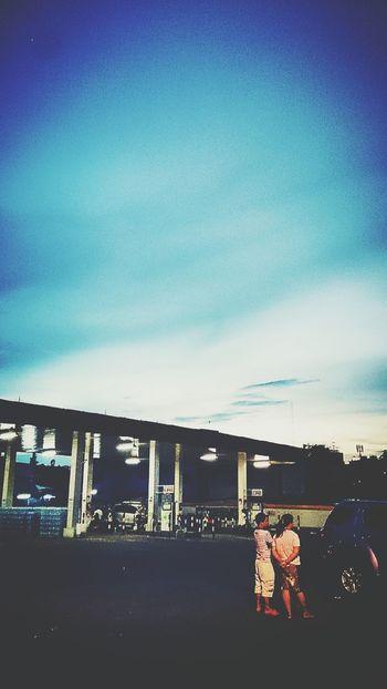 Gasstation Thsiland Culture Evening Sky Blue Sky