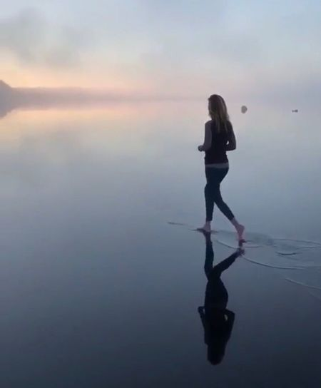 Reflection at sunset Women Sillouette Water Reflection Real People One Person Standing Sky Lifestyles Full Length Women Leisure Activity Adult Waterfront Sea Scenics - Nature Nature Beauty In Nature Tranquility Tranquil Scene Outdoors