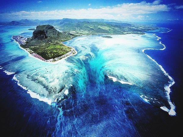 Mauritius Island. Waterfall under Navy