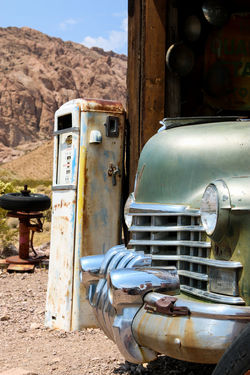 Abandoned Places Gas Gasoline Light Sunlight V8 Abandoned Bumper Car Chrome Close-up Day Gas Station Land Vehicle Mode Of Transport No People Outdoors Parked Petrol Petrol Pump Petrol Station Rusty Sky Sun Transportation
