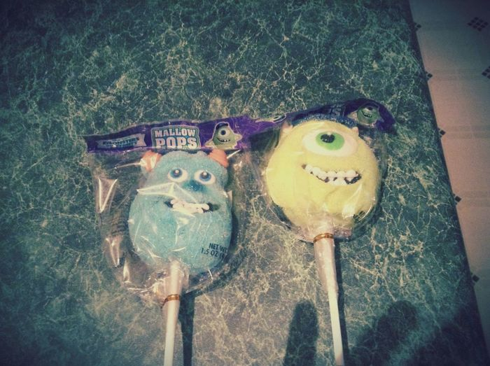 The main characters from monsters inc. Monsters INC Suckers Candy Time Cute♡