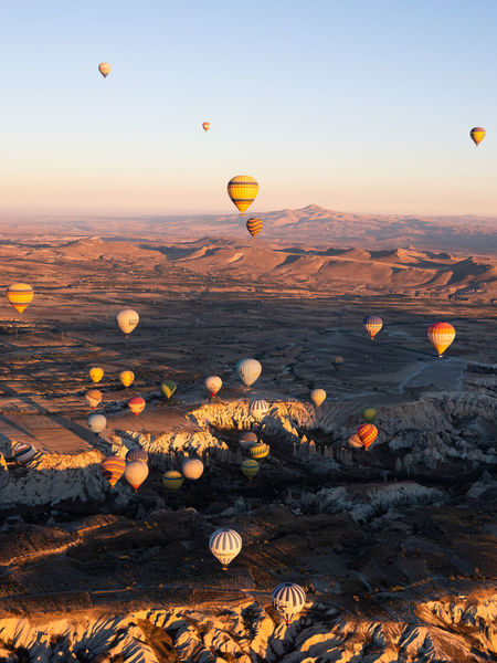 Hot air ballooning over the incredible Cappadocia, Turkey Week On Eyeem Cappadocia, Turkey Balloon Hot Air Balloon Sunrise Travel Olympus Mountain Em1 Mk2 Wanderlust Australian Photographers Air Vehicle Sky Beauty In Nature Flying Ballooning Festival Outdoors Sunset Scenics - Nature Nature Aerial Transportation Environment Mode Of Transportation A New Perspective On Life