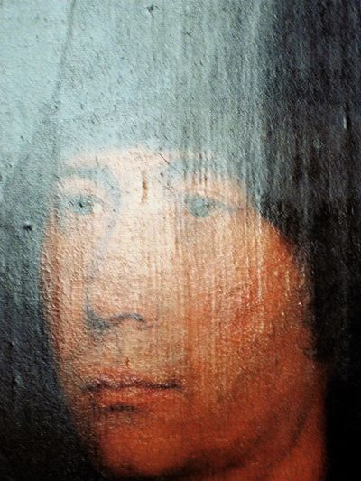 Art Detail Close-up Day Indoors  No People Painting Painting Art Portrait Of A Man  Reflection Texture