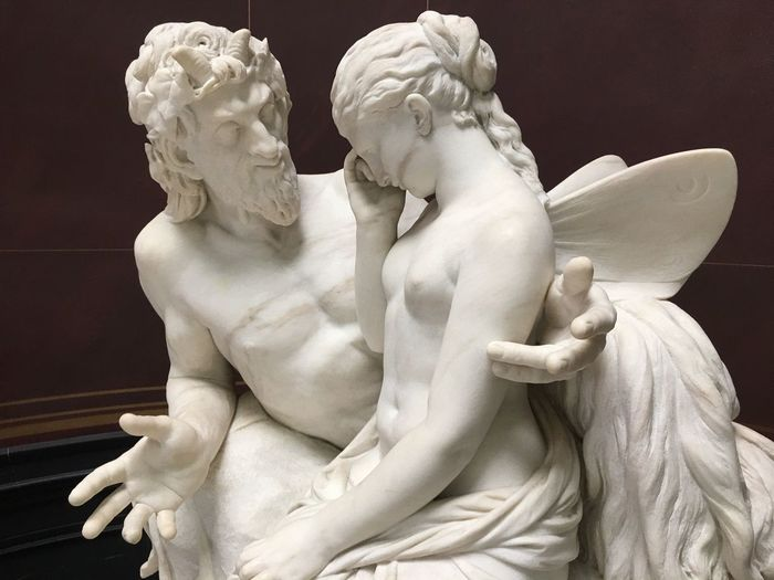 Midnight fairy Sculpture Art And Craft Human Representation Representation Statue Creativity EyeEmNewHere Female Likeness Male Likeness Arts Culture And Entertainment Antique Marble