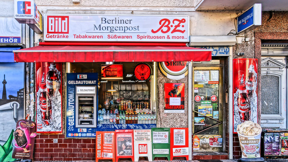 Architecture Berlin Photography Berliner Ansichten Building Exterior City Cultures Day Multi Colored Neon Newspaper Stand Newspapers No People Non-western Script Outdoors Shopfront Späti Text Tourism Urban Urban Exploration