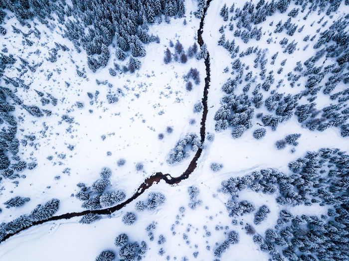 Drone shot of a small river in an ice cold landscape in Poland Drone  Dronephotography Aerial View Ice Poland Road Tree Trees Backgrounds Beauty In Nature Close-up Cold Temperature Day Full Frame Nature No People Outdoors River Scenics Ski Sky Snow Water Winter