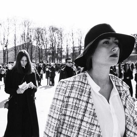 Eye4photography  Eye4black&white  Eye4photography  Blackandwhite Blackandwhite Photography Fashion Paris Paris Fashion Week Striking Fashion Open Edit Monochrome The Fashionist - 2015 EyeEm Awards Snap A Stranger Film Photography