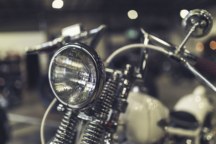 Close-Up Of Vintage Motorcycle
