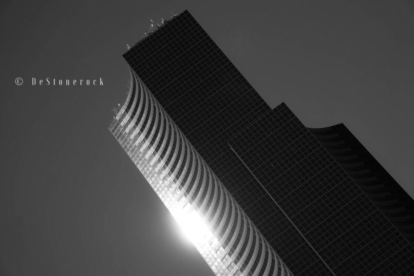 Modern Architecture Low Angle View Built Structure Skyscraper Building Exterior Travel Destinations City Camera Practice Testing Camera Photography Taking Pictures Sky Blackandwhite Blackandwhite Photography Black And White B&w
