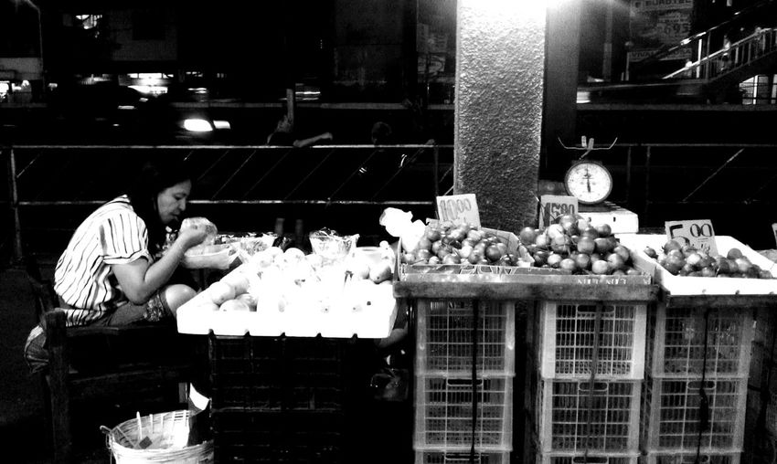 dinner Black And White Busystreet Everydaylifestyle EyeEm Best Shots Eyeem Philippines Food And Drink Lifestyle Market Mobilephotography Monochrome Monochrome Photography Occupation Streetlife Vendor Welcomeweekly