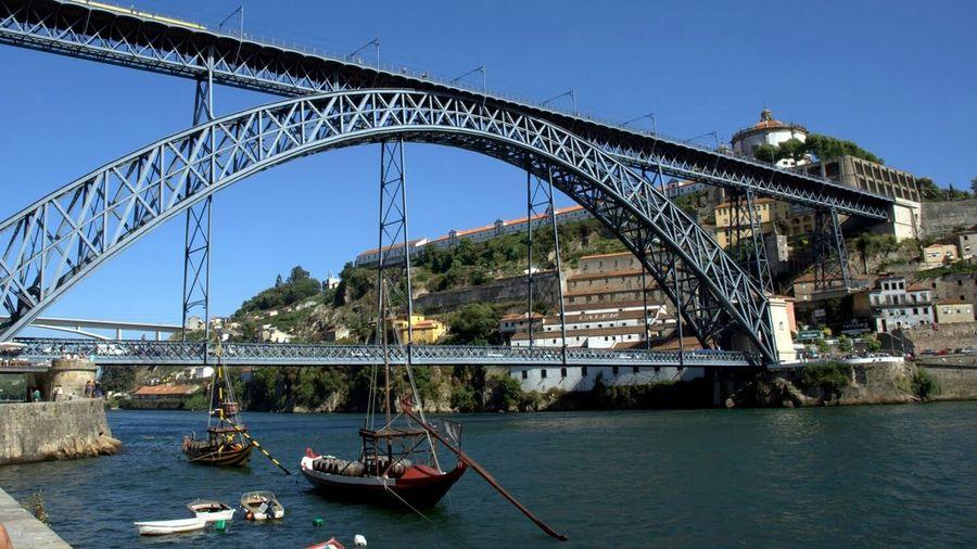 Bridges Bridge Porn Bridge View Bridge - Man Made Structure Train Bridge Boats⛵️ Boats On The River Porto, Portugal