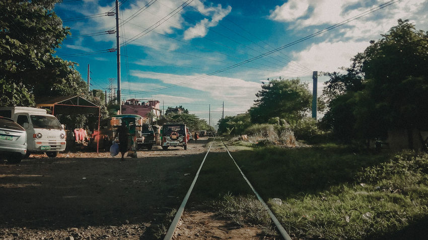 PNR SUCAT, Philippines Outdoors Cloud - Sky Day No People Nature Streets Train Travel Philippines Philippinesphotography Train Tracks Train - Vehicle Road Photograpy Colors Of Nature Urban Life Is Beautiful Lifeofadventure Life's Journey  Light And Shadow Adventure Travelphotography The Portraitist - 2018 EyeEm Awards