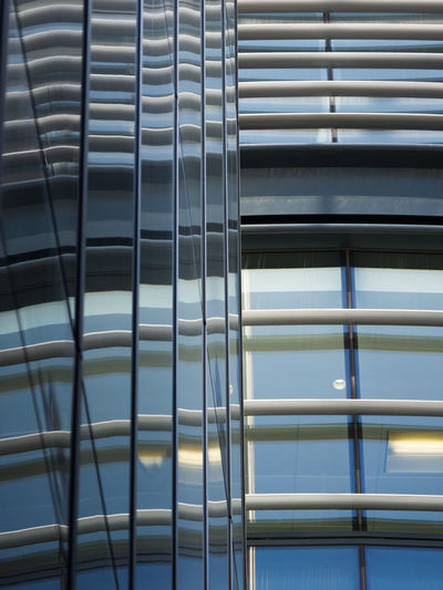 Two Faces Alloy Architecture Backgrounds Built Structure Close-up Day Full Frame Glass - Material Low Angle View Metal No People Pattern Railing Repetition Safety Security Silver Colored Steel Sunlight Walbrook Building Window