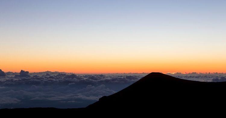 """Sea of Clouds"" Sunset Sky Outdoors No People Nature Beauty In Nature Travel Destinations Mountain Scenics Volcano Hawaiian Hawaii Hawaii Life Mauna Kea"