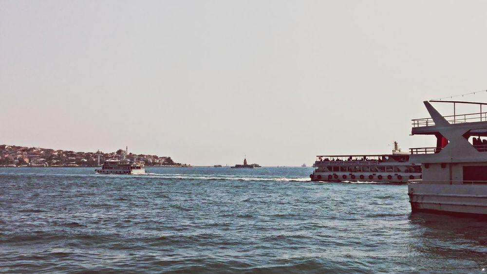 Sea Kizkulesi Besiktas Vapur Istanbul Turkey Manzara