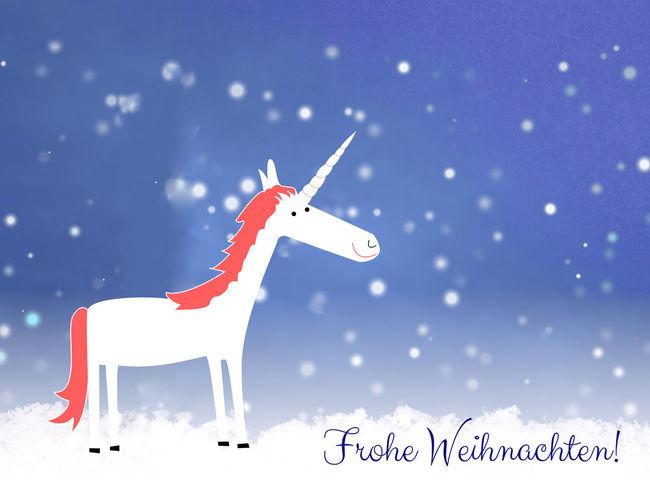 Frohe Weihnachten! mit Einhorn ... Christmas Deutsche Sprache Deutschland Frohe Weihnachten Funny Happy Karte Kinder Schnee Unicorn Unicorn Art Weihnachten Winter Card Einhorn Einhörner Frohe Frohes Frohes Fest Frohesfest Für Kinder Lustig Lustige Unicorns Weihnachtskarte