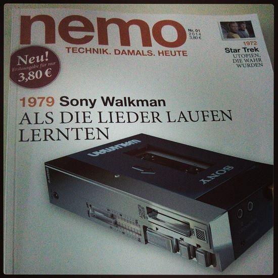 Ein herrliches Blatt! Nemo Technik  Damals Heute zeitschrift magazin sony walkman c64