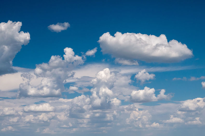 High Air Background Texture Backgrounds Beauty In Nature Blue Cloud - Sky Cloudscape Day Environment Full Frame Heaven Idyllic Low Angle View Meteorology Nature No People Outdoors Scenics - Nature Sky Softness Tranquil Scene Tranquility Wadding White Color