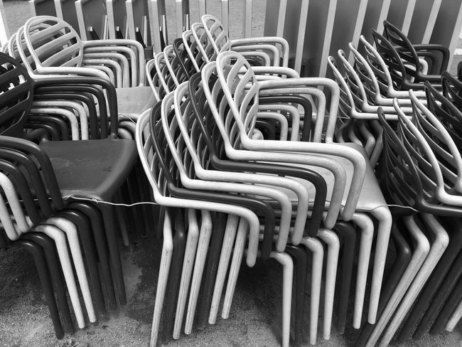 Chair Seat Large Group Of Objects Empty Arrangement In A Row Repetition