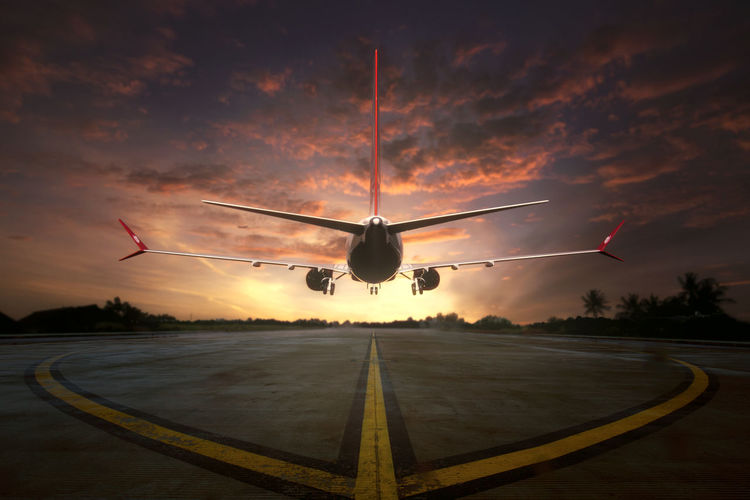 Composite of 2 pictures, the miniature aircraft taken during the sunset and the airport runway Orange Sky Silhouette Sky And Clouds Air Vehicle Aircraft In The Sky Aircraft Photography Airplane Airport Airport Runway Blue Sky Commercial Airplane Composite Image Day Flying Mid-air Miniature Mode Of Transport No People Outdoors Red Sky At Sunset Runway Sky Sunset Transportation