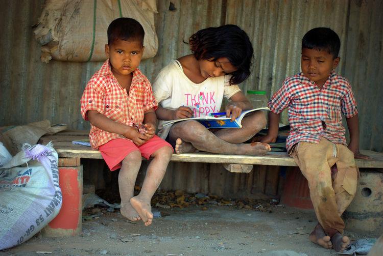 Think Happy Book, Child Childhood Children Children_collection Children Only Children Photography Children's Portraits Childrenphoto Childrens Childrens Portraits Day Outdoors Think Happy, Togetherness