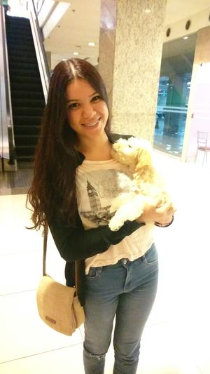 Real People Puppy Love Beatiful Girl Nice Day Hung By By My Puppy