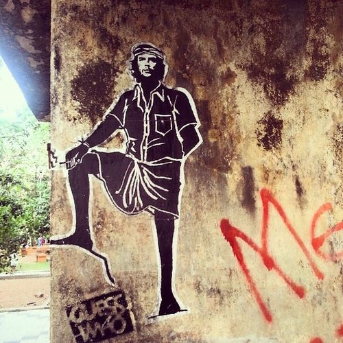 Join the Resistance. Fortkochi Kochi Kerala Che Graffiti