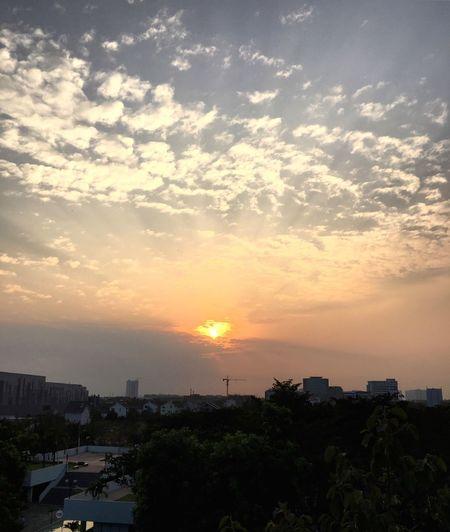 Evening Sun Everning Sky Cityscape EyeEm Nature Lover By Phone From My Window EyeEm Vietnam