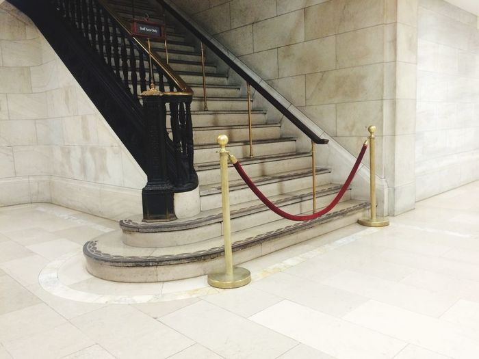 Stairs Closed Stairs Closed White Hall Hallway White Marble White Stone