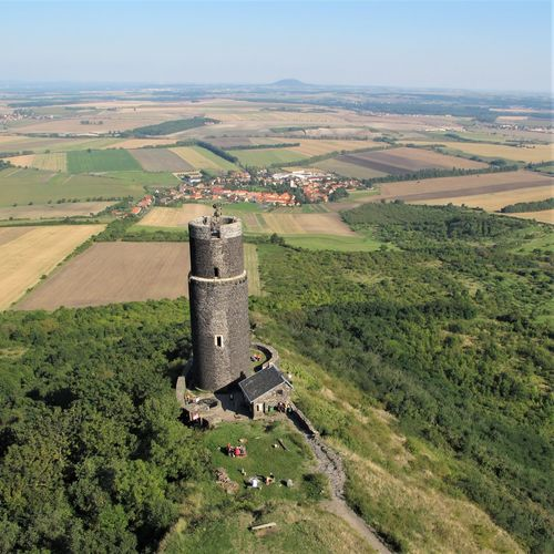 Castle Czech Republic Hazmburk Architecture Building Exterior Built Structure Day Environment Green Color High Angle View History Land Landscape Medieval Non-urban Scene Old Ruin Outdoors Rolling Landscape Rural Scene Scenics - Nature The Past Tower